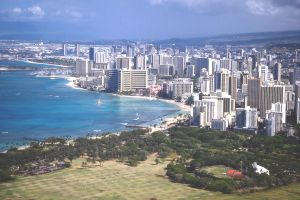 View of Waikiki and Honolulu.
