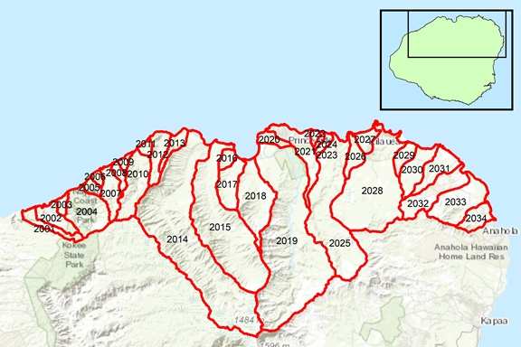 Hanalei Region Surface Water Hydrologic Units