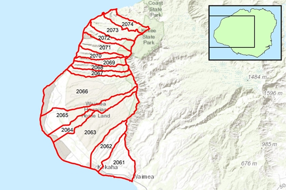 Kekaha Region Surface Water Hydrologic Units