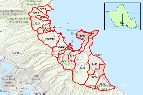 Ko'olau Loa Region Surface Water Hydrologic Units