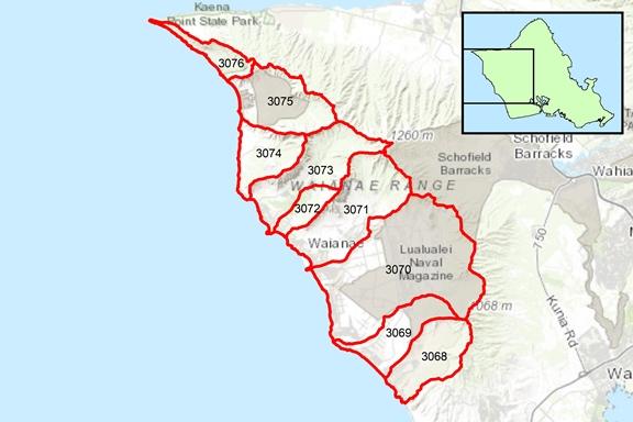 Wai'anae Region Surface Water Hydrologic Units