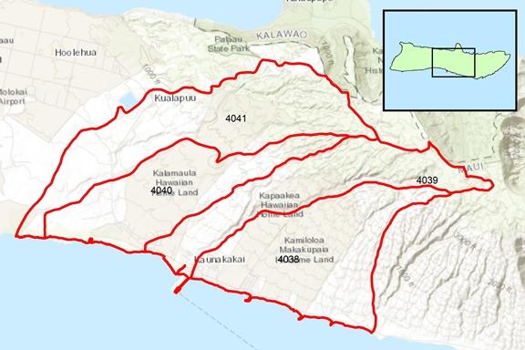 Ho'olehua Region Surface Water Hydrologic Units