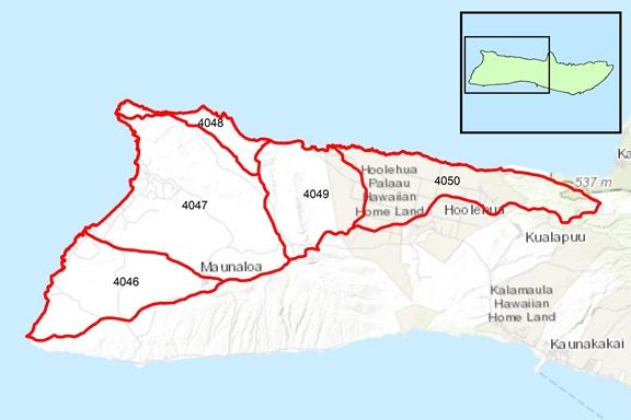 Moomomi Region Surface Water Hydrologic Units