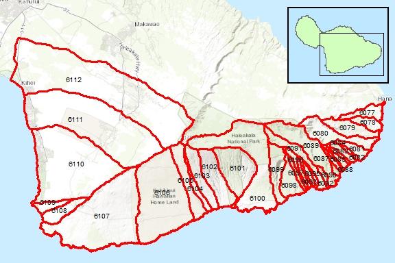 Kahikinui Region Surface Water Hydrologic Units