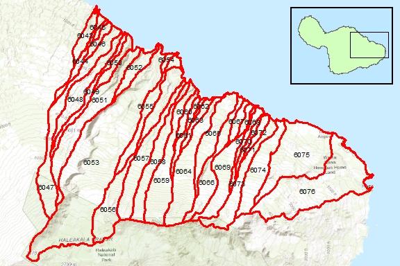 Ke'anae Region Surface Water Hydrologic Units