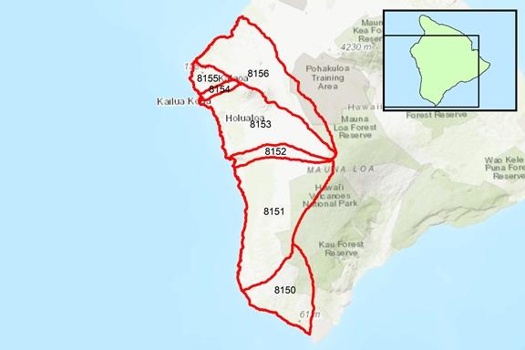 Kona Region Surface Water Hydrologic Units