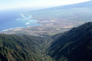 View of Wailuku, Maui
