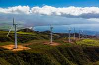 West Maui Wind Turbines, Maalaea, Maui, Hawaii.