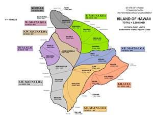 Island of Hawai'i Ground Water Hydrologic Unit Map