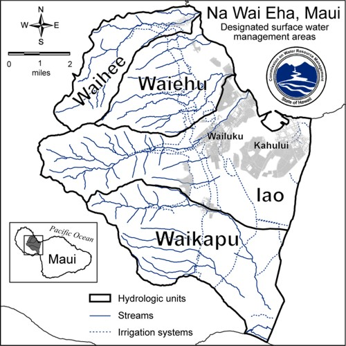 Na Wai Eha, Maui Surface Water Management Areas