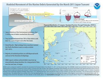 Image of Modeled Movement of Marine Debris Generated by March 2011 Japan Tsunami