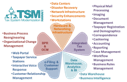 Flower shaped diagram listing elements that impact the following five areas: hardware and networking infrastructure; integrated tax system; data warehouse, analytics, and business intelligence; e-filing and customer support; and business process reengineering and organizational change management.